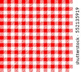 red and white tablecloth... | Shutterstock .eps vector #552135919