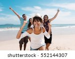 laughing latin woman with...   Shutterstock . vector #552144307