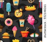 street food seamless pattern... | Shutterstock .eps vector #552148261