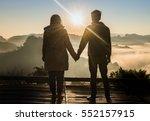 silhouette teenager lovers... | Shutterstock . vector #552157915