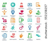 medical   health care icons ... | Shutterstock .eps vector #552158257