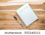 top view 2017 plan list with... | Shutterstock . vector #552160111