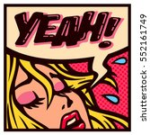 yeah  vintage pop art style... | Shutterstock .eps vector #552161749
