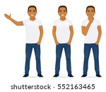 young man in jeans standing in...   Shutterstock .eps vector #552163465