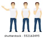 young man in jeans standing in... | Shutterstock .eps vector #552163495