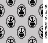 vector greek vase seamless... | Shutterstock .eps vector #552163735