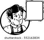 cute guy smiles circle comics... | Shutterstock .eps vector #552163834