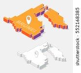 brunei map element with 3d... | Shutterstock .eps vector #552168385