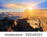 grand canyon eastern rim on a... | Shutterstock . vector #552169231