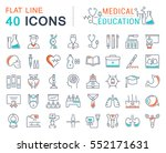 set vector line icons  sign and ... | Shutterstock .eps vector #552171631