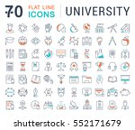 set vector line icons  sign and ... | Shutterstock .eps vector #552171679