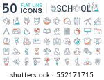set vector line icons  sign and ... | Shutterstock .eps vector #552171715