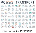 set vector line icons in flat... | Shutterstock .eps vector #552171769