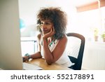 young successful businesswoman... | Shutterstock . vector #552178891