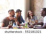 group of young friends having... | Shutterstock . vector #552181321