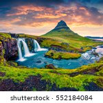 summer sunset on famous... | Shutterstock . vector #552184084