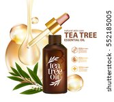 tea tree oil  nature cosmetic... | Shutterstock .eps vector #552185005