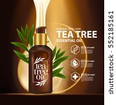 tea tree oil  nature cosmetic... | Shutterstock .eps vector #552185161