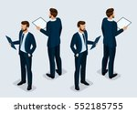 trend isometric people set 2 ... | Shutterstock .eps vector #552185755