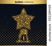 gold glitter vector icon | Shutterstock .eps vector #552189439