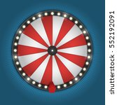 color lucky wheel template.... | Shutterstock .eps vector #552192091