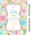 wedding invitation card ethnic... | Shutterstock .eps vector #552192631