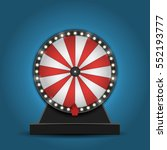 color lucky wheel template.... | Shutterstock .eps vector #552193777