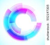 geometric frame  vector... | Shutterstock .eps vector #552197305