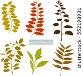 vector illustration of green... | Shutterstock .eps vector #552198931