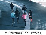 young athletes in sportswear... | Shutterstock . vector #552199951