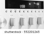 sound amplifier receiver front...   Shutterstock . vector #552201265