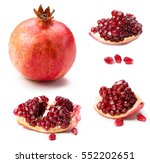 collection of pomegranates... | Shutterstock . vector #552202651