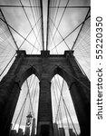 black and white upward image of ...   Shutterstock . vector #55220350