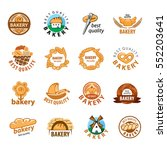 big set of bakery products ... | Shutterstock .eps vector #552203641