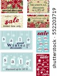 set of posters for seasonal... | Shutterstock .eps vector #552203719