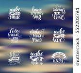 set of handwritten lettering... | Shutterstock . vector #552203761