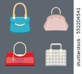 trendy handbags collection... | Shutterstock .eps vector #552204541
