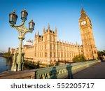 big ben and the houses of... | Shutterstock . vector #552205717