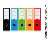 folder for papers. vector... | Shutterstock .eps vector #552206074