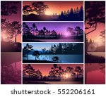 set vector illustration of... | Shutterstock .eps vector #552206161