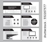 business template design set... | Shutterstock .eps vector #552207577