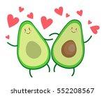 avocado love | Shutterstock .eps vector #552208567