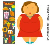 obesity infographic template  ... | Shutterstock .eps vector #552210511