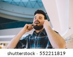 portrait of a young handsome... | Shutterstock . vector #552211819