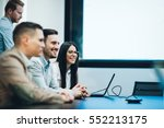 business meeting and... | Shutterstock . vector #552213175