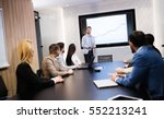 business meeting and... | Shutterstock . vector #552213241