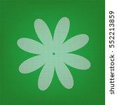 flower sign illustration. white ...