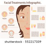 types of acne pimples human... | Shutterstock .eps vector #552217339