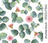 watercolor seamless pattern... | Shutterstock . vector #552217561