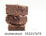 chocolate brownie isolated on... | Shutterstock . vector #552217675